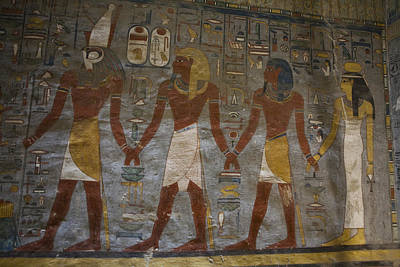 The Painted Walls Inside A Tomb Poster