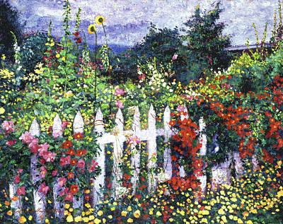 The Painter's Palette Garden Poster by David Lloyd Glover