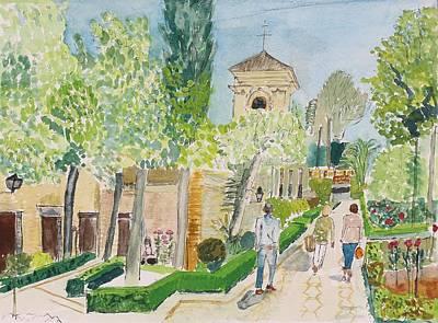 The Parador, Alhambra, Granada Poster by Bill White