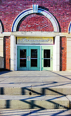 Poster featuring the photograph The Paramount Theatre by Colleen Kammerer