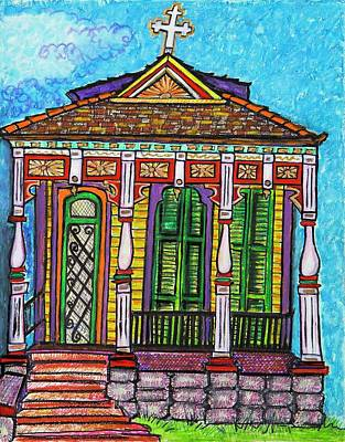 The Parish House Poster by Aleta Kim Lawton