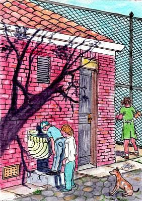 The Park Fountain Brooklyn Ny 1945 Poster