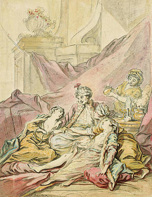 The Pasha In His Harem Poster by Francois Boucher