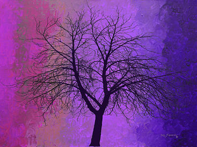 The Pastel Tree Poster by Ken Figurski