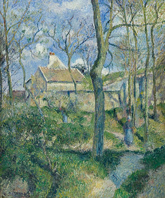 The Path To Les Pouilleux Pontoise Poster by Camille Pissarro