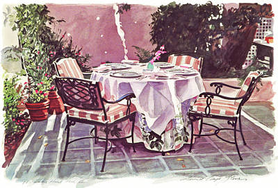 The Patio - Hotel Bel-air  Poster