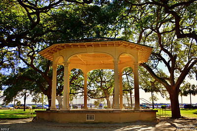 Poster featuring the photograph The Pavilion At Battery Park Charleston Sc  by Lisa Wooten
