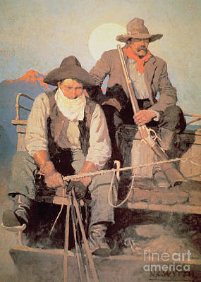 The Pay Stage Poster by Newell Convers Wyeth