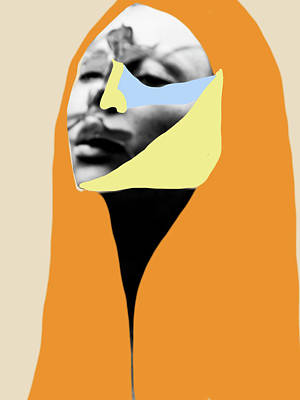 Poster featuring the digital art The Peace Within by Maria Lankina