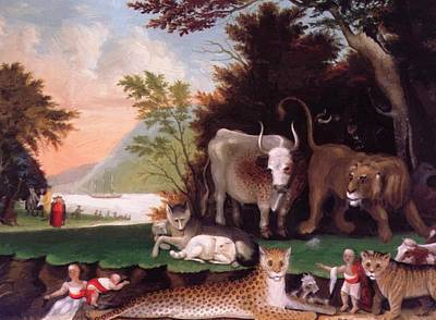 The Peaceable Kingdom 1847 Poster