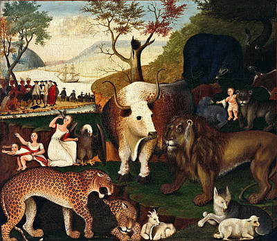 The Peaceable Kingdom1868 Poster