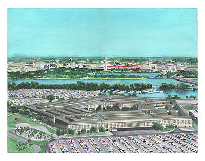 Poster featuring the painting The Pentagon by Betsy Hackett