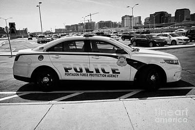 the Pentagon police force protection agency patrol car Washington DC USA Poster