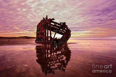 The Peter Iredale 2 Poster by Kay Brewer