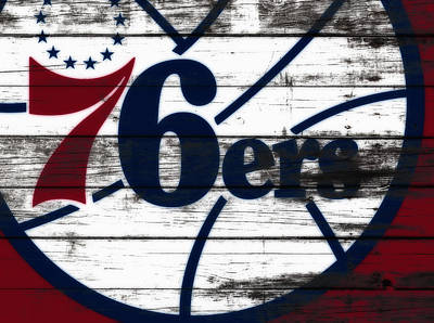 The Philadelphia 76ers 3c        Poster by Brian Reaves