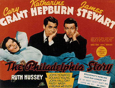 The Philadelphia Story, Katharine Poster by Everett