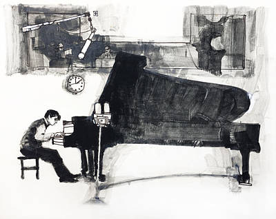 The Pianist Poster by Roz McQuillan