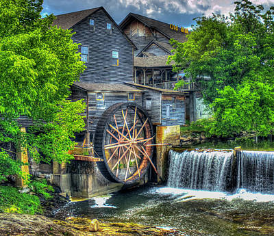 The Pigeon Forge Mill Old Mill Art Poster