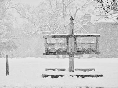 The Pillory In The Snow Poster by Rachel Morrison