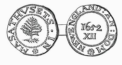 The Pine-tree Shilling, Currency In The Poster by Vintage Design Pics