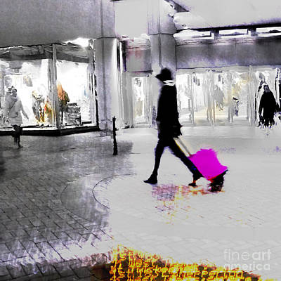 Poster featuring the photograph The Pink Bag by LemonArt Photography