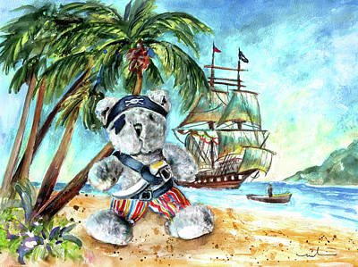 The Pirate Bear Poster by Miki De Goodaboom