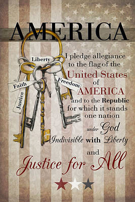Poster featuring the photograph The Pledge by Robin-Lee Vieira