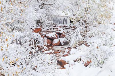 The Poetic Beauty Of Freshly Fallen Snow  Poster