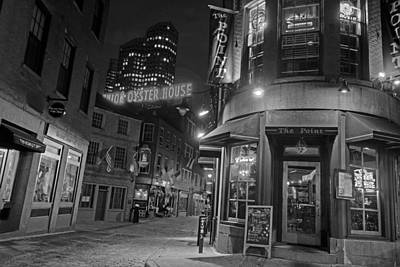 The Point Marshall Street Boston Ma Black And White Poster by Toby McGuire