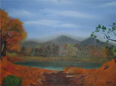 Poster featuring the painting The Pond by Barbara Hayes