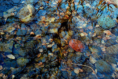 The Pond In Autumn Poster by Marilynne Bull