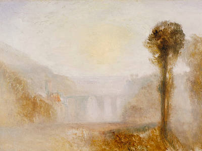 The Ponte Delle Torri Spoleto Poster by Joseph Mallord William Turner