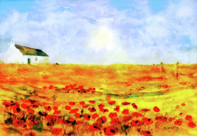 Poster featuring the painting The Poppy Picker by Valerie Anne Kelly