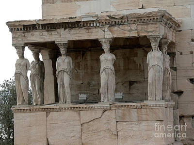 The Porch Of The Caryatids Poster by David Bearden