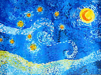 The Positive Elements From Starry Night Poster by Cathy Jacobs