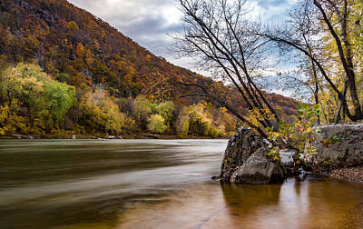 The Potomac In Autumn Poster by Ed Clark