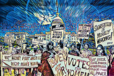The Power Of Protest Poster by Kelly Reed