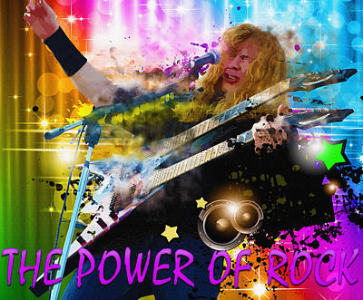 The Power Of Rock Poster by Don Kuing