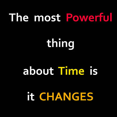 The Power Of Time Poster by Bhinderjit Singh Kaler