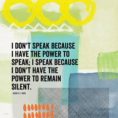 The Power To Speak- Contemporary Jewish Art By Linda Woods Poster by Linda Woods