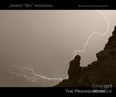 The Praying Monk Camelback Mountain Poster