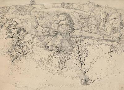 The Primitive Cottage, Shoreham Poster by Samuel Palmer