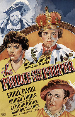 The Prince And The Pauper, Errol Flynn Poster by Everett