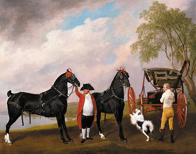 The Prince Of Wales's Phaeton Poster by George Stubbs