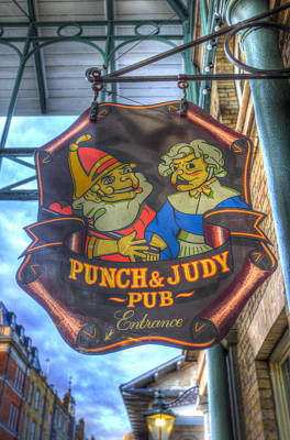 The Punch And Judy Pub Sign Poster by David Pyatt