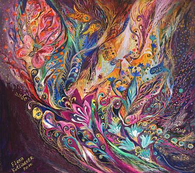 The Purple Stream Poster by Elena Kotliarker