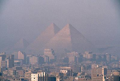 The Pyramids At Giza And Cairo Poster