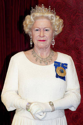 Poster featuring the photograph The Queen Elizabeth II  by Miroslava Jurcik