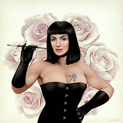 The Queen Of Vintage Roses Poster