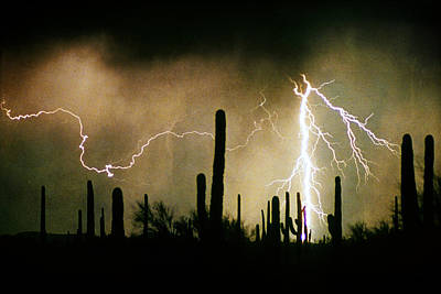 The Quiet Southwest Desert Lightning Storm Poster by James BO  Insogna
